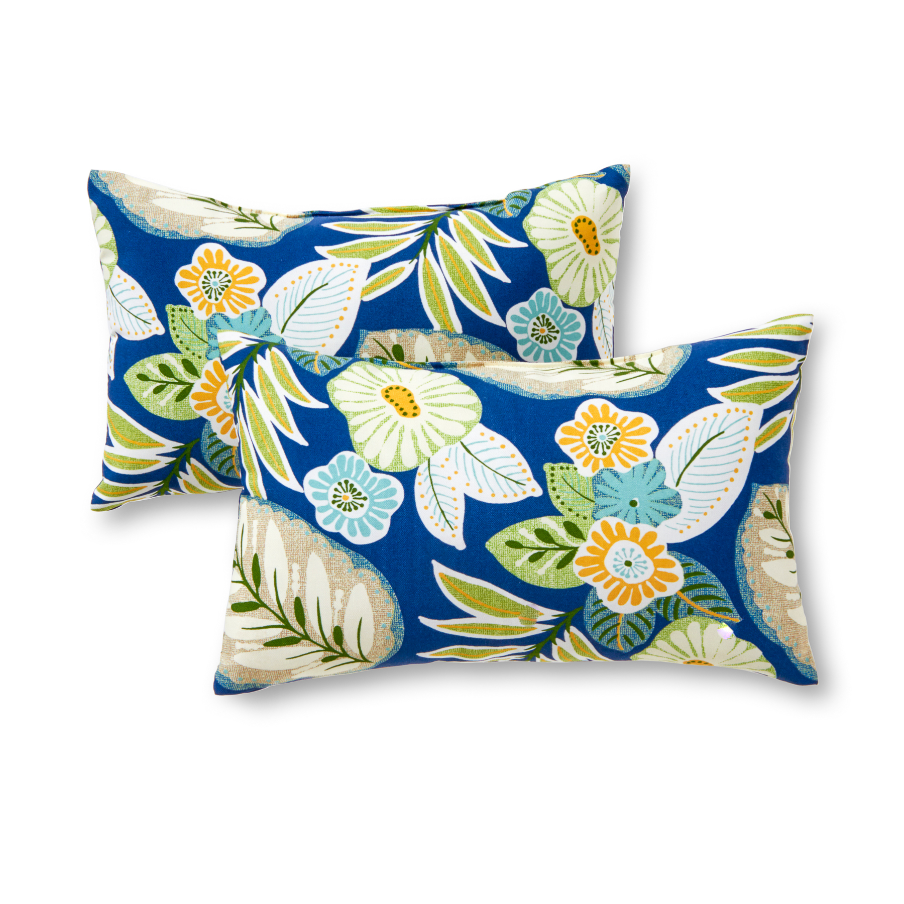 Greendale Home Fashions Marlow Floral Rectangle Outdoor Accent Pillow, Set of 2