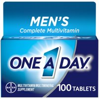 One A Day Men's Multivitamin, Supplement with Vitamins A, C, E, B1, B2, B6, B12,Calcium and Vitamin D, 100 ct.