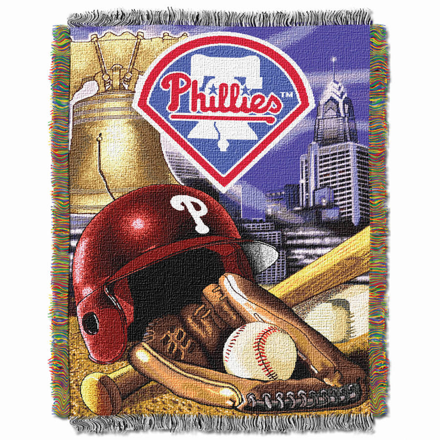 "MLB 48"" x 60"" Home Field Advantage Series Tapestry Throw, Phillies"