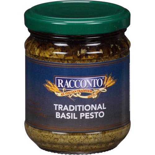 Racconto Traditional Basil Pesto Sauce, 6.3 oz, (Pack of 6)