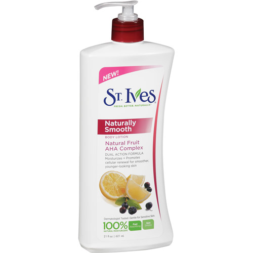 St. Ives Naturally Smooth Natural Fruit AHA Complex Body Lotion, 21 oz