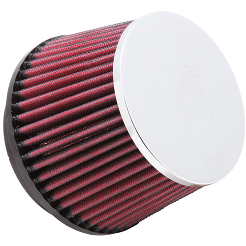 K&N RC-5057 Universal Clamp-On Air Filter: Round Tapered; 3.938 in (100 mm) Flange ID; 3.625 in (92 mm) Height; 5.438 in (138 mm) Base; 4.5 in (114 mm) Top
