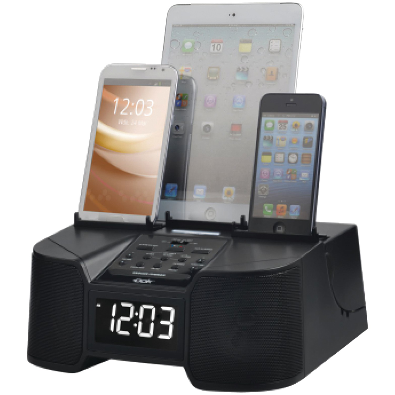 Dök CR68 6-Port Smartphone Charger with Bluetooth & Alarm Clock
