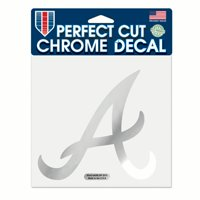 "Atlanta Braves WinCraft 6"" x 6"" Chrome Decal"