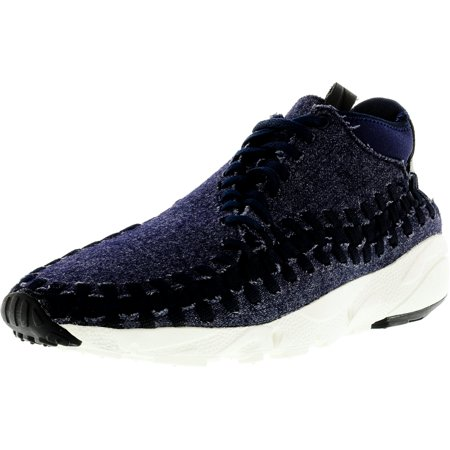 new concept 12543 47a5c Nike Men s Air Footscape Woven Chukka Obsidian   Black-Sail-Black  Ankle-High ...