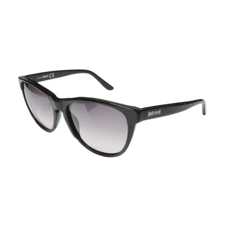 New Just Cavalli Jc492s Womens/Ladies Cat Eye Full-Rim Gradient Black Frame Gradient Gray Lenses 57-16-140 Sunglasses/Sun (Cheetah Print Sunglasses)