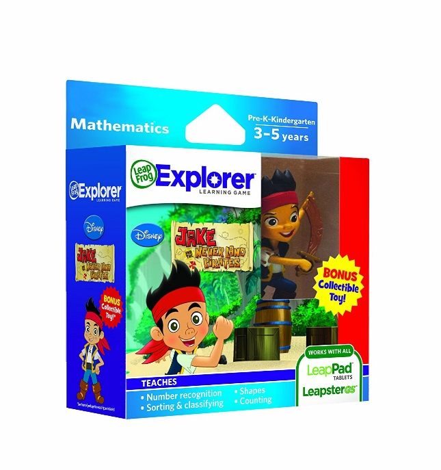 LeapFrog Explorer Disney Learning Games with Free Collectible Toy (Jake and the Never Land... by LeapFrog