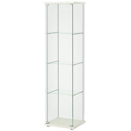 Ikea Detolf Glass Curio Display Cabinet White 34210.20295.66 (Ikea Glass Cabinet)