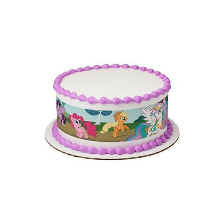 My Little Pony Cupcake Topper (My Little Pony Designer Strips ~ Edible Frosting Image Cake)