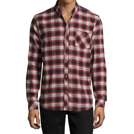 529370d2317 WeSC - NEW Red Mens Size XL Slim Fit Plaid Flannel Button Down Shirt -  Walmart.com