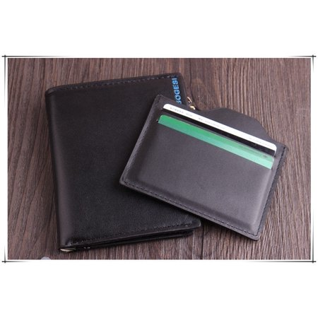 Men´s Vintage Faux Leather Bifold Purse ID Card Holder Pockets Coin