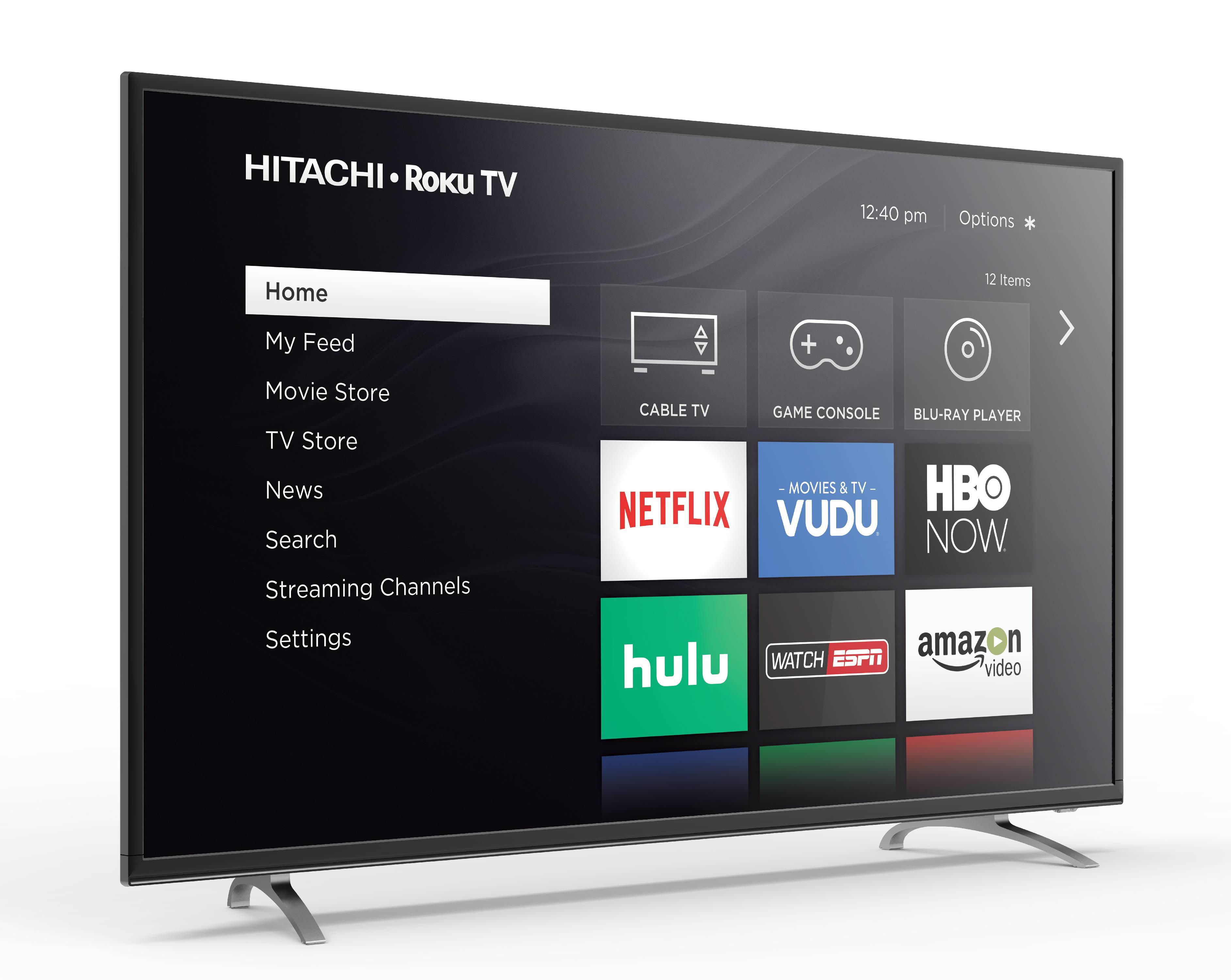 "Click here to buy Hitachi 60"" Class 4K (2160P) Roku Smart LED TV (60RH2) by Hitachi."