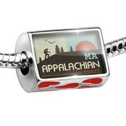 Bead US Hiking Trails Appalachian Trail - Massachusetts Charm Fits All European Bracelets