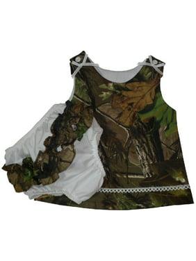 391802394c43d Product Image Mossy Oak Camo Baby Sleeveless Dress & Ruffled Panty Set 24  Month