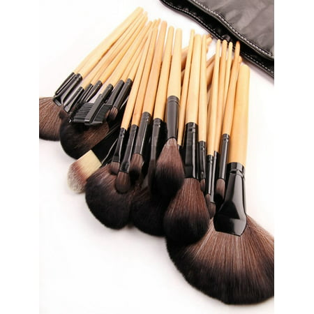 32pcs Professional Soft Cosmetic Eyebrow Shadow Makeup Brush Tool Set Kit Bag