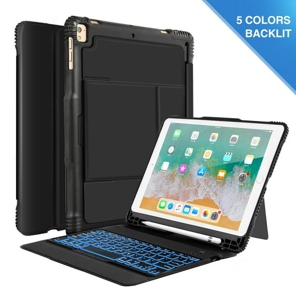 iPad 9.7 Keyboard Case with Backlit BT Keyboard for iPad ...