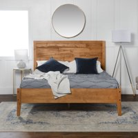 Manor Park Transitional Solid Wood Queen Bed - Caramel