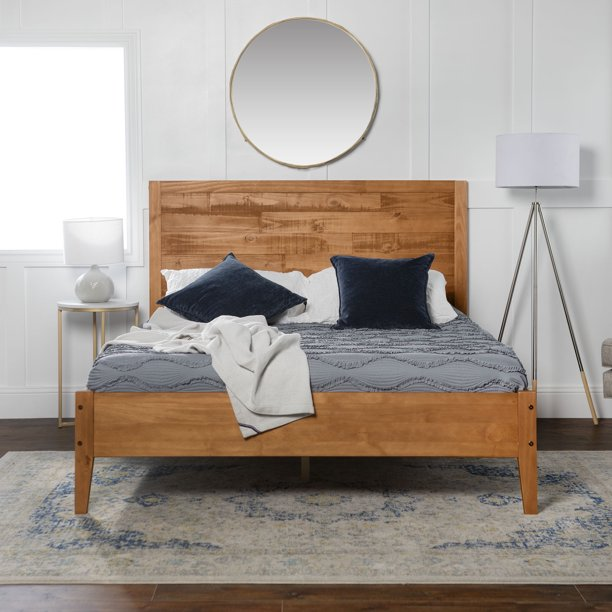 Manor Park Transitional Solid Wood, Solid Wood Queen Bed