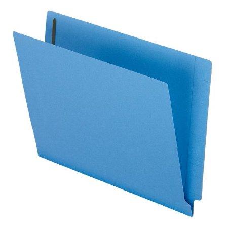 Esselte Fastener Folder - Reinforced End Tab Expansion Folder, Two Fasteners, Letter, Blue, 50/box