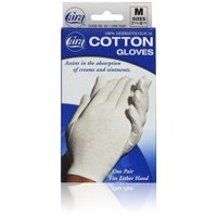 CARA 100% Dermatological Cotton Gloves, Medium