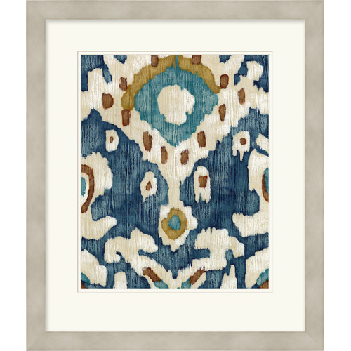Surya ''Ocean Ikat II'' by Vision Studio Framed Giclee Print Graphic Art