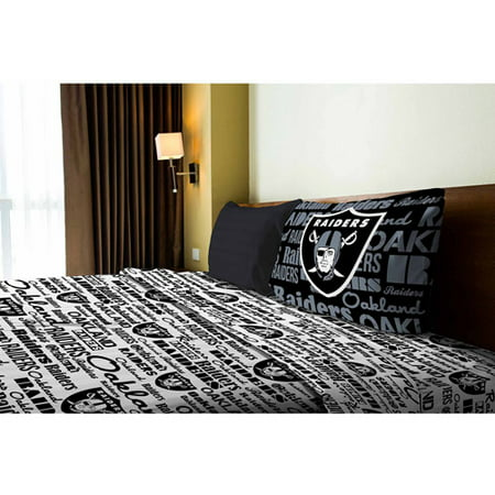 Nfl Anthem Bedding Sheet Set  Raiders