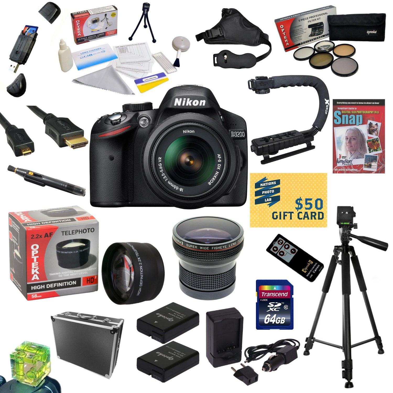 Nikon D3200 Digital SLR Camera with 18-55mm NIKKOR VR Len...