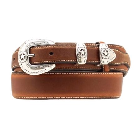 Nocona Western Belt Mens Leather Ranger Star Concho Mocha (Nocona Concho)