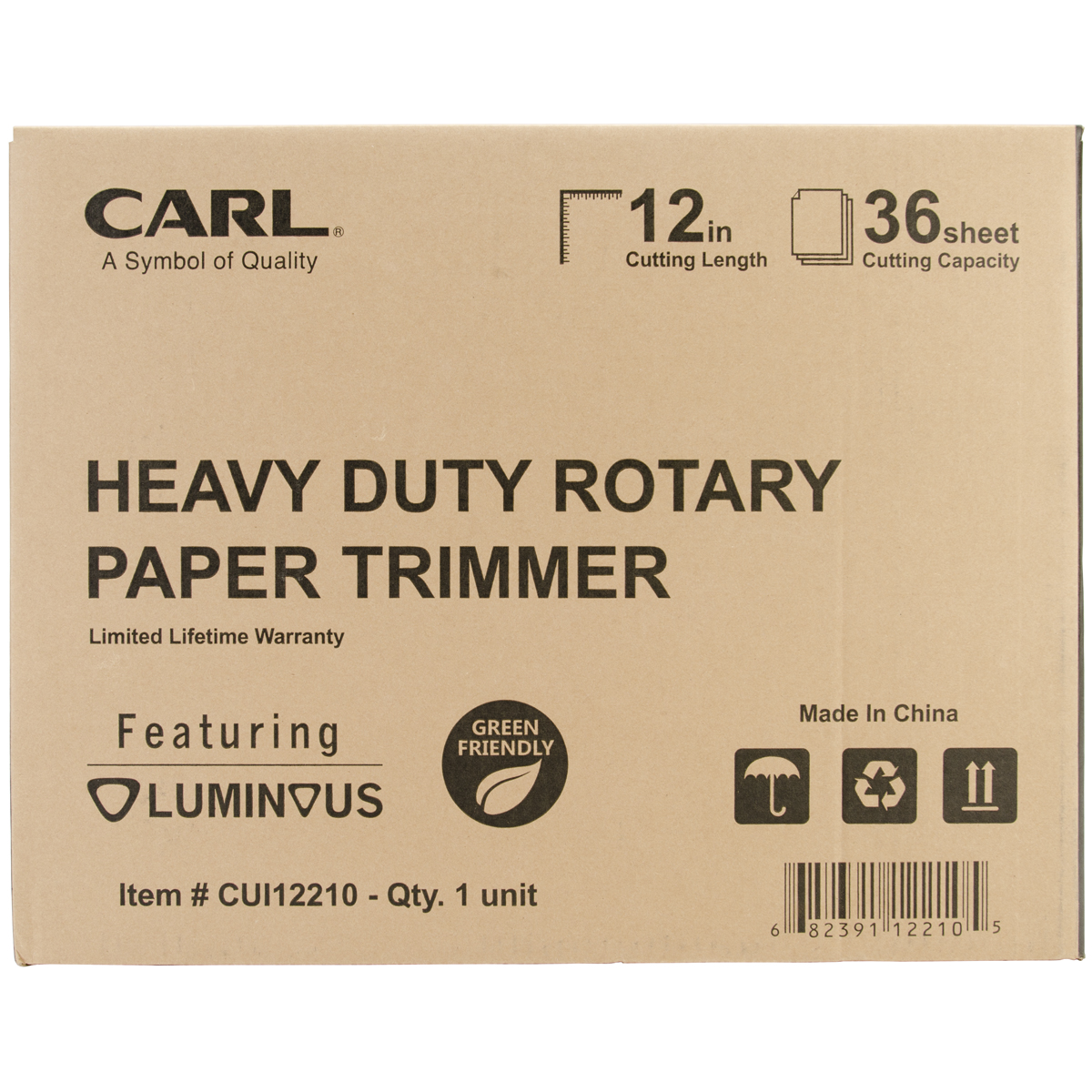 "Carl Heavy-Duty Rotary Trimmer 12""-"