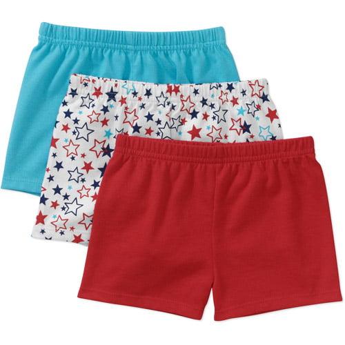 Garanimals Newborn Girls' 3-Pack Knit Shorts