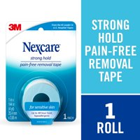Nexcare Sensitive Skin First Aid Tape, Long-Term Adhesion, Removes Cleanly, Ideal for Those with Fragile or Sensitive Skin, 1 inch x 4 yards, 1 Roll
