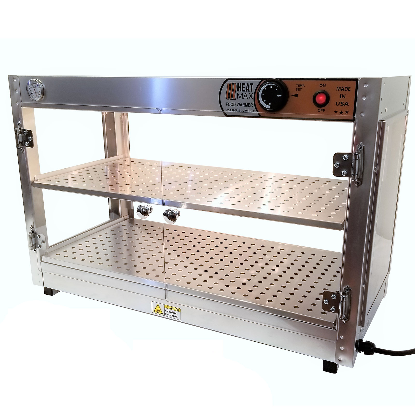 HeatMax Commercial Countertop Food Warmer Display Case With Water Tray 30x15x20