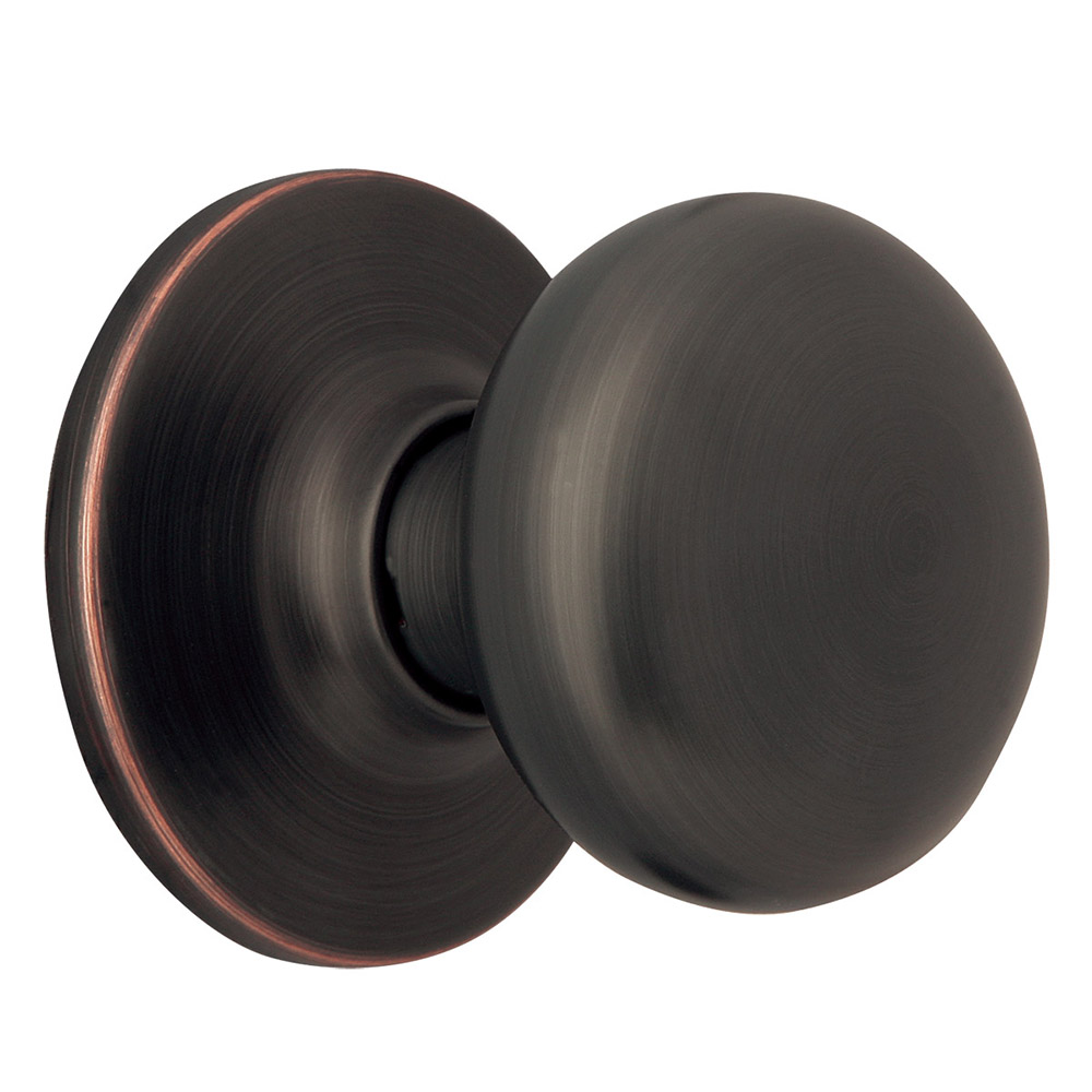 Design House 753434 Cambridge 2 Way Adjustable Dummy Door Knob, Oil Rubbed  Bronze
