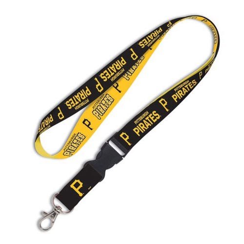 Pittsburgh Pirates WinCraft Wordmark Lanyard with Detachable Buckle - No Size