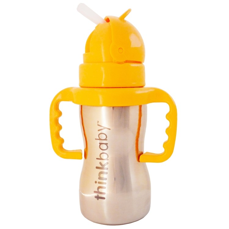 Thinkbaby Thinkster BPA Free Ultra Polished Stainless Steel, 9oz