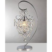 Unnie 1-light Chrome 24-inch Crystal Table Lamp