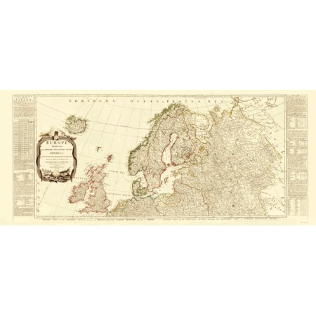 Old Europe Map   Northern Europe   Sayer 1787   23 X 53 61