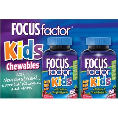 2 Bottles Of 150 FOCUSfactor Kids, Chewable Tablets