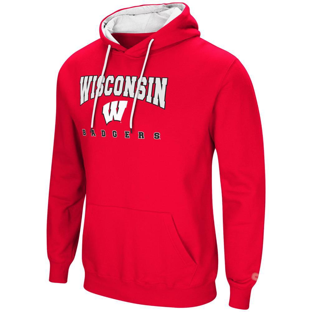 University of Wisconsin Badgers Men's Hoodie Pullover Hooded Sweatshirt