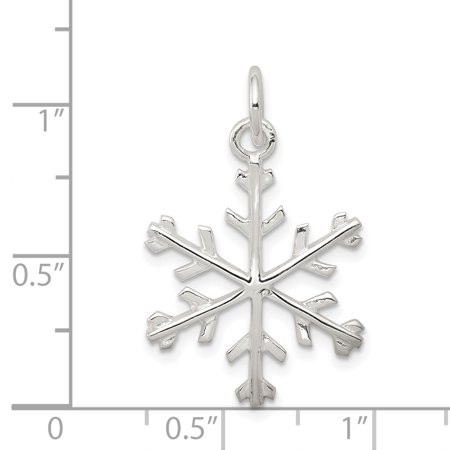 925 Sterling Silver Snowflake Shaped Pendant - image 1 of 2