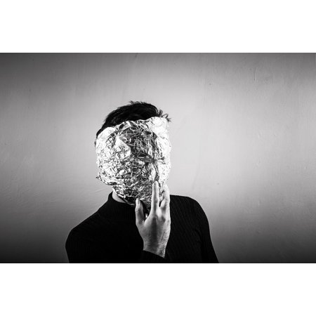 LAMINATED POSTER Anonymous Foil Aluminium Mask Aluminum Person Poster Print 24 x 36](Anonymous Mask Sale)