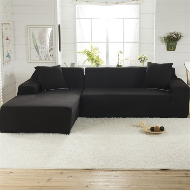 l shaped 3 seats sofa covers polyester stretch fabric pet sectional sofa cover couch seat slipcovers furniture protector living room home decor