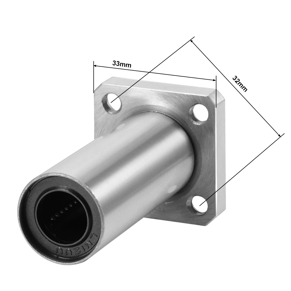 Extra Long Motion Bushing with Square Mount Hole Square Flange Linear Ball Bearings 6mm