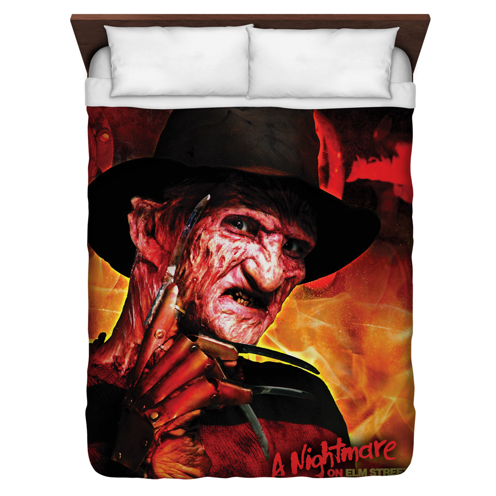 Nightmare On Elm Street Freddy'S Boiler Room Queen Duvet Cover White 88X88