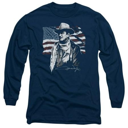 John Wayne American Idol Mens Long Sleeve Shirt (John Wayne Cowboy Shirt)