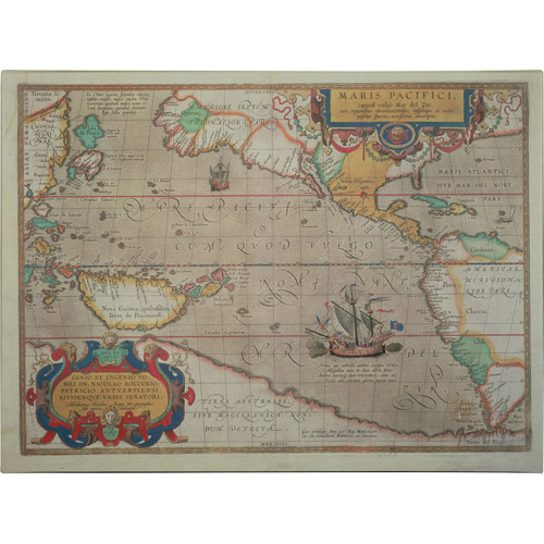 Trademark Art 'Map of the Pacific, 1589' Canvas Art by Abraham Ortelius
