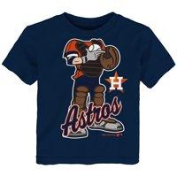 MLB Houston ASTROS TEE Short Sleeve Boys 50% Cotton 50% Poly Team Color 12M-4T