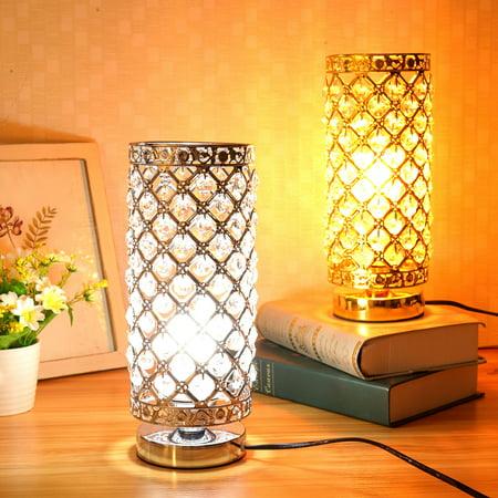 Crystal table lamp nightstand decorative elegant desk lamp - Elegant table lamps for living room ...