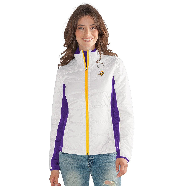 "Minnesota Vikings Women's ""Fullback"" Full Zip Quilted Jacket by G-III Sports"