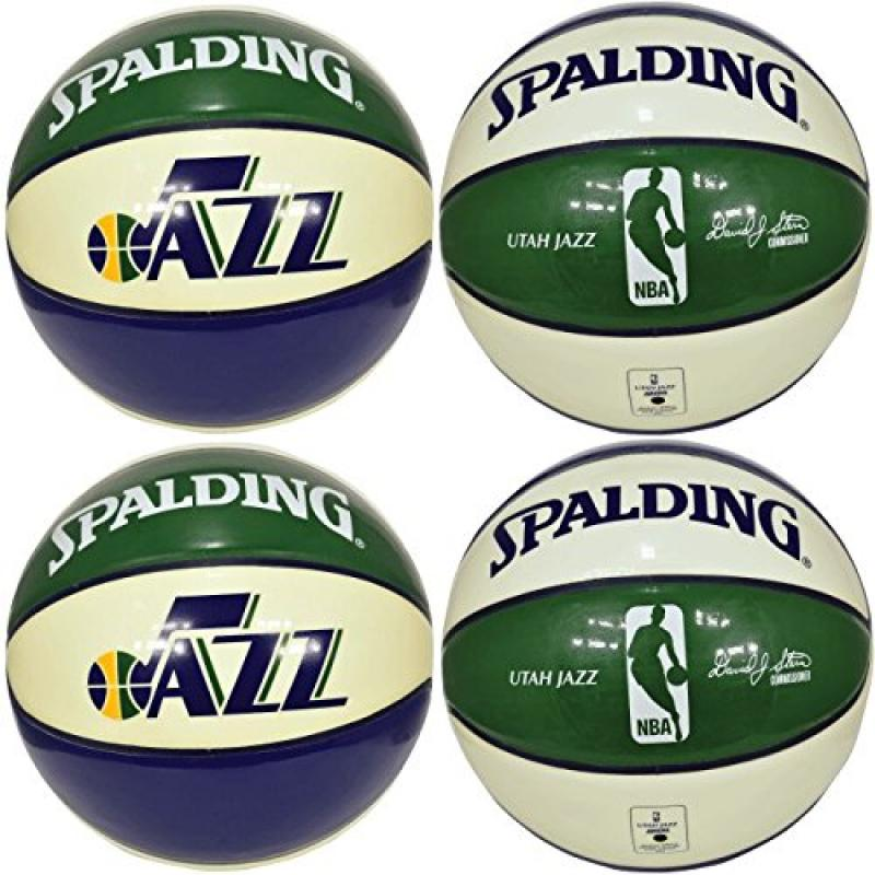 Spalding NBA Utah Jazz Team Colors and Logo Basketball (Lot of 4)